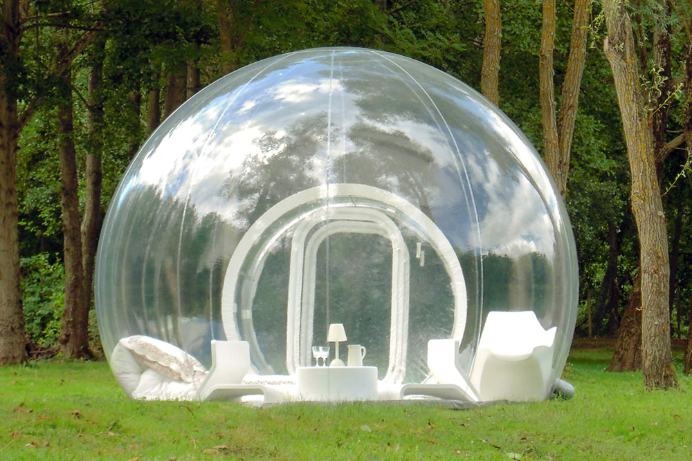 Structure gonflable pour l ext rieur cristal bubble yook for Architecture gonflable