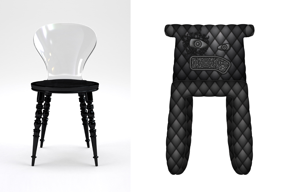 Chaise BABEL Pour XO MONSTER Moooi CMarcel Wanders