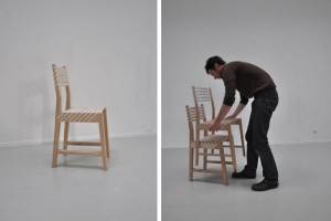 Chaise Triplette par Paul Menand - James Dyson Award 2011 // © Paul Menand