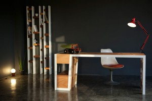 Bureau R70 - Collection Recycled - Design Nicola Santini et Pier Paolo Taddei pour Kann // © Rudy Bou Chebel