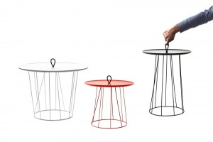 Tables d'appoint Express - Design eliumstudio pour Super-ette // © Felipe Ribon