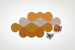 Tapis Tresse - Design Samuel Accoceberry pour Chevalier Editions,  2012 // © S. Accoceberry