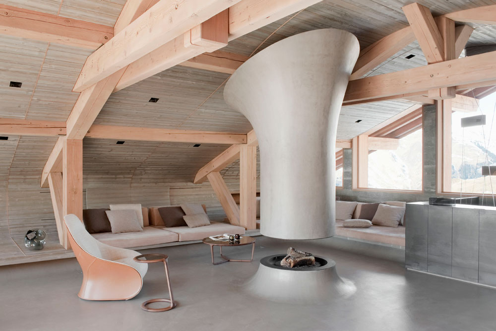 5 architectures et int rieurs contemporains de montagne for Interieur chalet contemporain