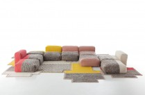 Tapis, coussin, sofa / Composition Canevas Space de Charlotte Lancelot / Yooko: Design, dcoration &amp; architecture d&#039;intrieur