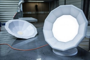 Lampe Point de suspension en béton - Matali Crasset pour LCDA Concrete // © LCDA Concrete