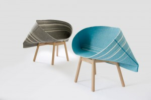 Fauteuil Selvedge - Design Yael Mer et Shay Alkalay du Studio Raw Edges pour Kvadrat // © Raw Edges