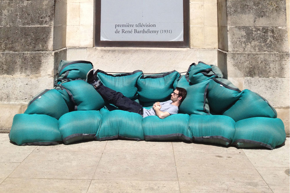 D'Days 2013 Paris - le parcours parisien du design / Outbed en lin outdoor par Marine Peyre / Yooko