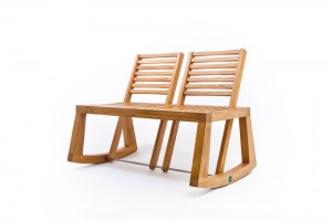 Banc Double View - Design Chloe de la Chaise pour Outdoorz Gallery // © Chloe de la Chaise