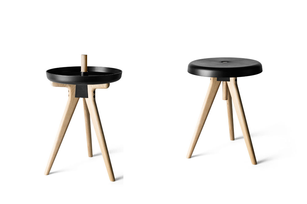 Tabouret table basse et plateau flip around la cr ation 3 en 1 de norm po - Table basse avec tabouret ...