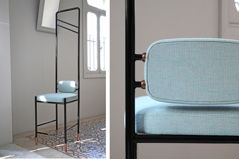 Chaise Guillotine - Collection Tessa par le studio libanais de design david/nicolas / Yooko