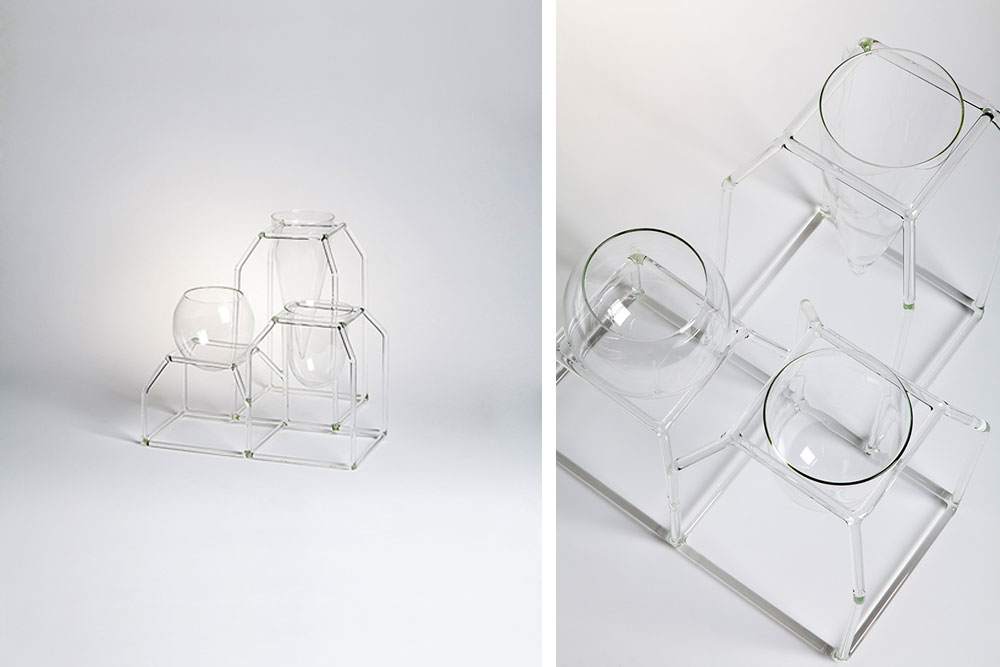 Triptych par Giorgia Zanellato / Fabrica - Exposition Drawing Glass / Verre / Artdesign / Paris Design Week / Design Miami / Yooko