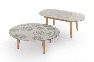 Table Lace et table Bug  par Mensch Made // © Mensch Made