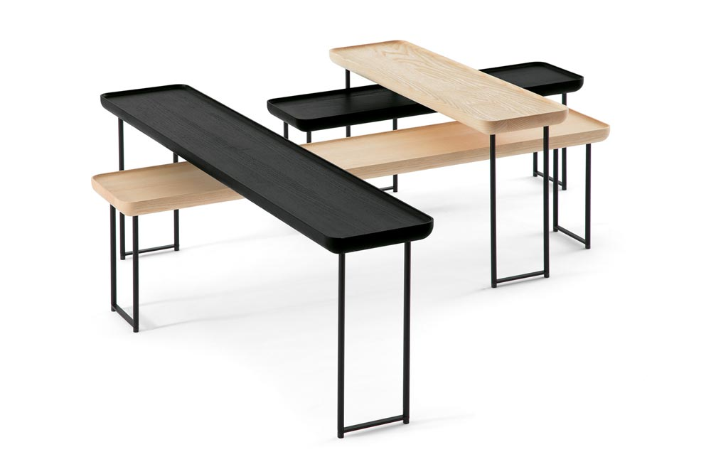 s rie de tables basses torei de luca nichetto pour cassina yook. Black Bedroom Furniture Sets. Home Design Ideas