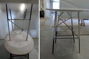 Work in progress / Ensemble table et chaises Long Arapode par Binome // © Binome