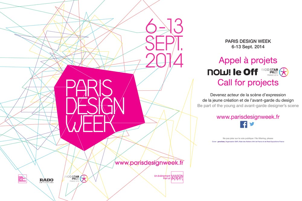 Appel à projet now! le off - Rado Star Prize / Paris Design Week / Yooko
