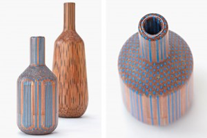 Collection de vases Amalgamated - Studio Markunpoika pour la Gallery FUMI // © Gallery Fumi