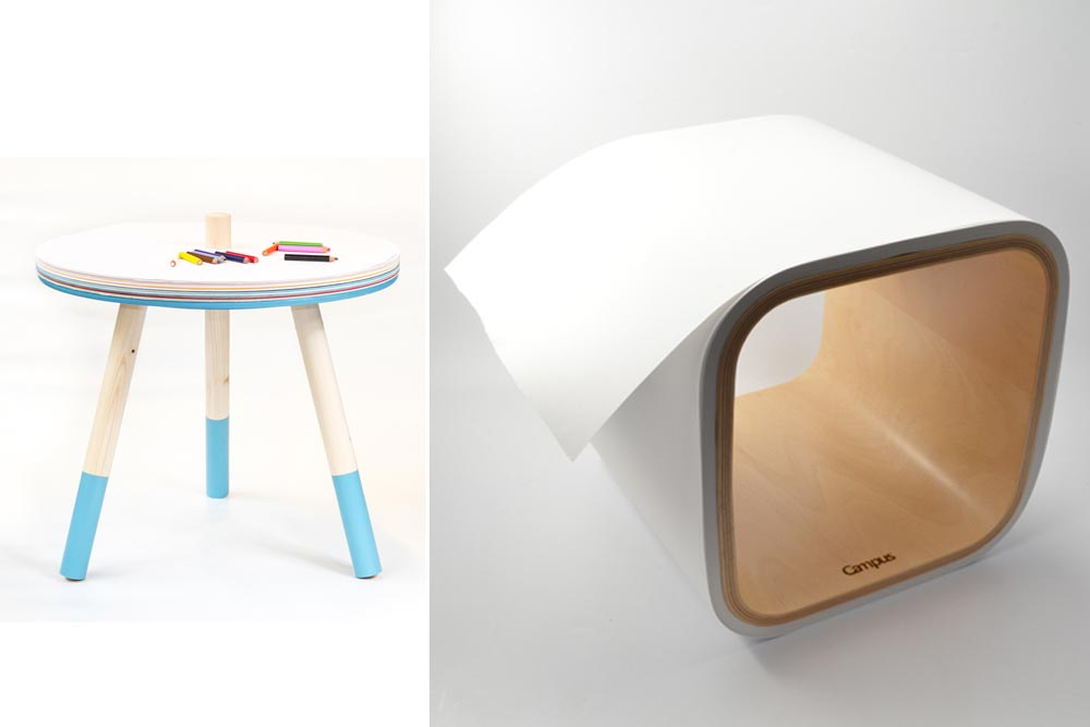 Tables basses pour enfants Come and draw Vs Roll table Du design pensé pour les apprentis dessinateurs