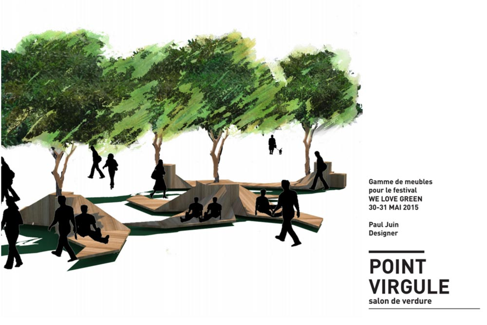 Point Virgule - Du mobilier outdoor en bois par Paul Juin