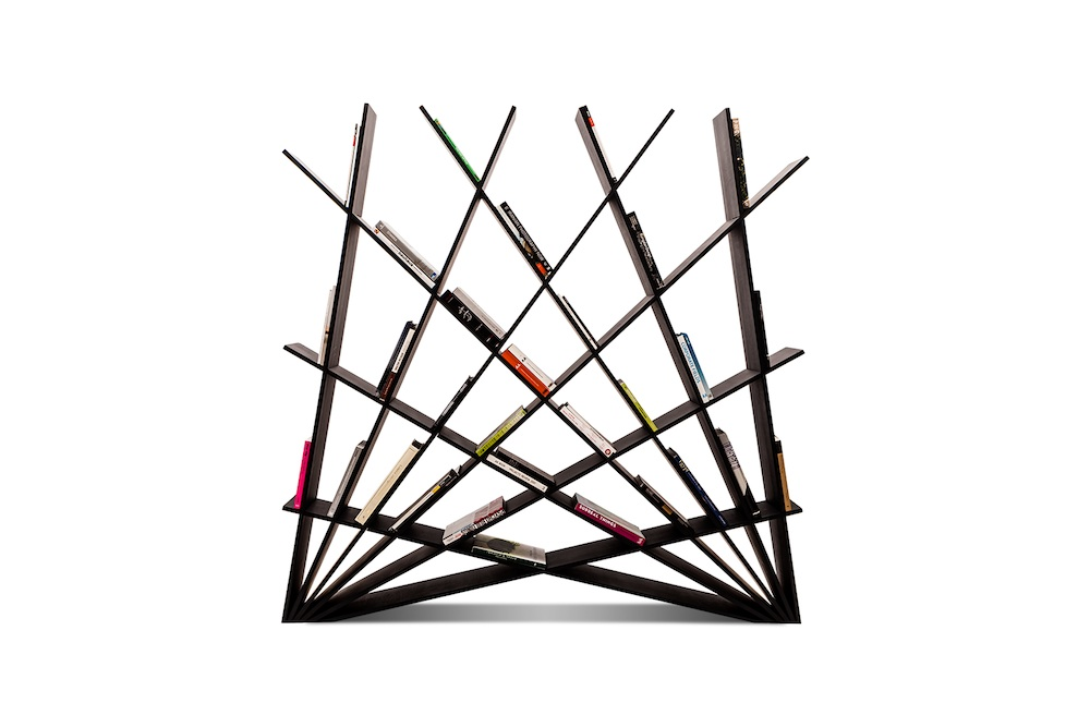 Cheft – a graphic bookcase by Iranian designer Maryam Pousti