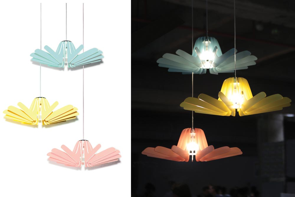 Suspension Girassol par Anouche Hachmanian / Paris Design Week / Yookô