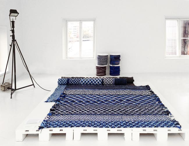 Exposition Re Rag Rug. par Katarina Brieditis et Katarina Evans – 12 mois 12 tapis / Best in Design 2015 / Yookô