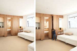 Le Refuge mountain apartment in Les Menuires by h2o Architectes // © Julien Attard