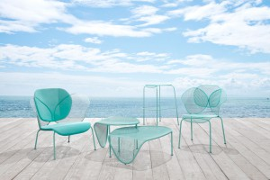 Collection de mobilier outdoor Elitre - Design Philippe Bestenheider pour Area Declic // © Area Declic