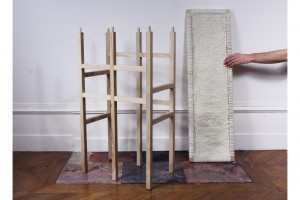 Console Wool and Wood par Amaury Poudray pour l'exposition Objects In Between  // © Amaury Poudray